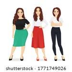 three elegant casual business...   Shutterstock .eps vector #1771749026