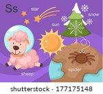 alphabet.s letter.star sun... | Shutterstock .eps vector #177175148