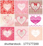 arrival labels with cute hearts | Shutterstock .eps vector #177177200