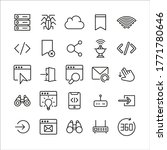 premium set of web line icons....