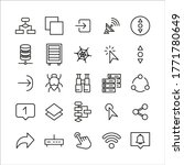 premium set of web line icons....