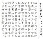 big set of web line icons....