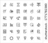 stroke line icons set of... | Shutterstock .eps vector #1771782380
