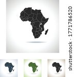 vector map of the africa | Shutterstock .eps vector #1771786520