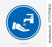 hand washing icon. vector... | Shutterstock .eps vector #1771793816