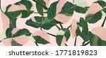 luxury gold line art and... | Shutterstock .eps vector #1771819823