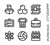 simple set collage vector line...