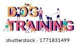 dog training typography banner... | Shutterstock .eps vector #1771831499