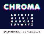 realistic chromatic aberration... | Shutterstock .eps vector #1771833176