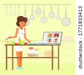 online cooking masterclass ... | Shutterstock .eps vector #1771833413