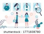 therapist gives direction or... | Shutterstock .eps vector #1771838780