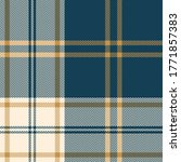 Blue And Gold Plaid Pattern...