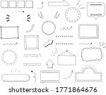 set of title index template  ... | Shutterstock .eps vector #1771864676