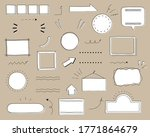 set of title index template  ... | Shutterstock .eps vector #1771864679