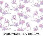 freesia flowers. delicate... | Shutterstock .eps vector #1771868696