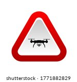Drone Sign On White Background