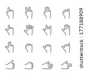 hands icons | Shutterstock .eps vector #177188909