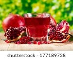 glass of pomegranate  juice... | Shutterstock . vector #177189728