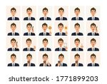 face expressions of a... | Shutterstock .eps vector #1771899203