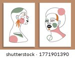modern abstract faces with... | Shutterstock .eps vector #1771901390