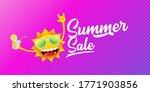 summer sale horizontal web... | Shutterstock .eps vector #1771903856
