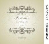 vintage background  antique... | Shutterstock .eps vector #177190598