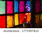 Stained Glass Multi Colored...