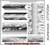 grunge abstract design elements.... | Shutterstock .eps vector #177191564