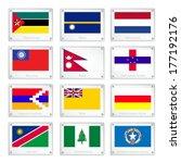 flags of mozambique  nauru ... | Shutterstock .eps vector #177192176