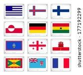 national flags of greece  faroe ...   Shutterstock .eps vector #177192299