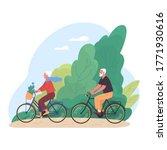 elderly couple spends time...   Shutterstock .eps vector #1771930616