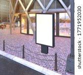 blank mock up of vertical... | Shutterstock . vector #1771952030