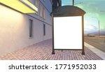 blank white mock up of vertical ... | Shutterstock . vector #1771952033
