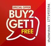 buy 2 get 1 free in brackets... | Shutterstock .eps vector #1771955546
