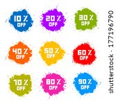 colorful discount labels ... | Shutterstock .eps vector #177196790