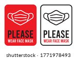 please wear face mask sign.... | Shutterstock .eps vector #1771978493