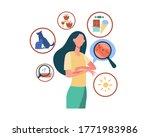 faceless sad woman suffering... | Shutterstock .eps vector #1771983986