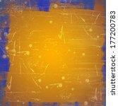 orange grunge background | Shutterstock . vector #177200783