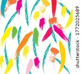 abstract colorful paint brush... | Shutterstock .eps vector #1772025689