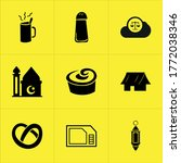 set of 9 icons such as symbol ...
