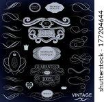 calligraphic design elements... | Shutterstock . vector #177204644