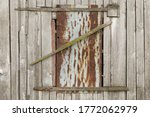 Old Barn Window With A Lock...