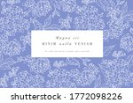 vintage card with lilac flowers.... | Shutterstock .eps vector #1772098226