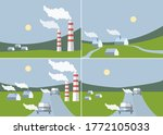 ecology and ecological problems ... | Shutterstock .eps vector #1772105033