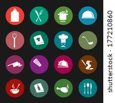 restaurant vector icons | Shutterstock .eps vector #177210860