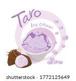 delicious taro ice cream flavor ...   Shutterstock .eps vector #1772125649