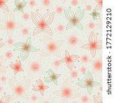 delicate butterlies in light... | Shutterstock .eps vector #1772129210