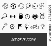 sports icons. set of 18. sport... | Shutterstock .eps vector #177213008