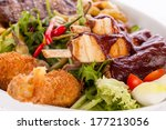 wholesome platter of mixed... | Shutterstock . vector #177213056