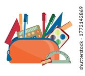Set Of School Accessories In...